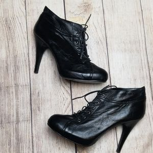 Nine West Leather Heeled Booties
